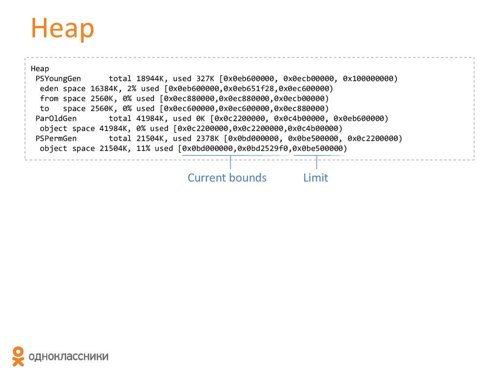 Heap Heap PSYoungGen total 18944K, used 327K [0...