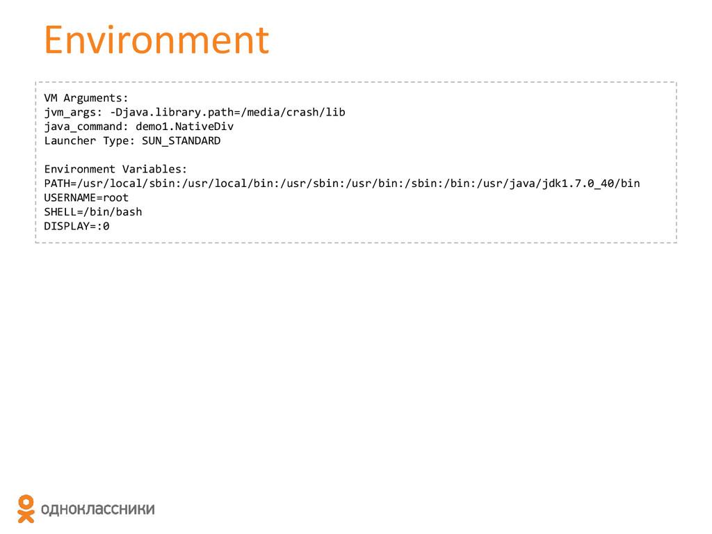 Environment VM Arguments: jvm_args: -Djava.libr...