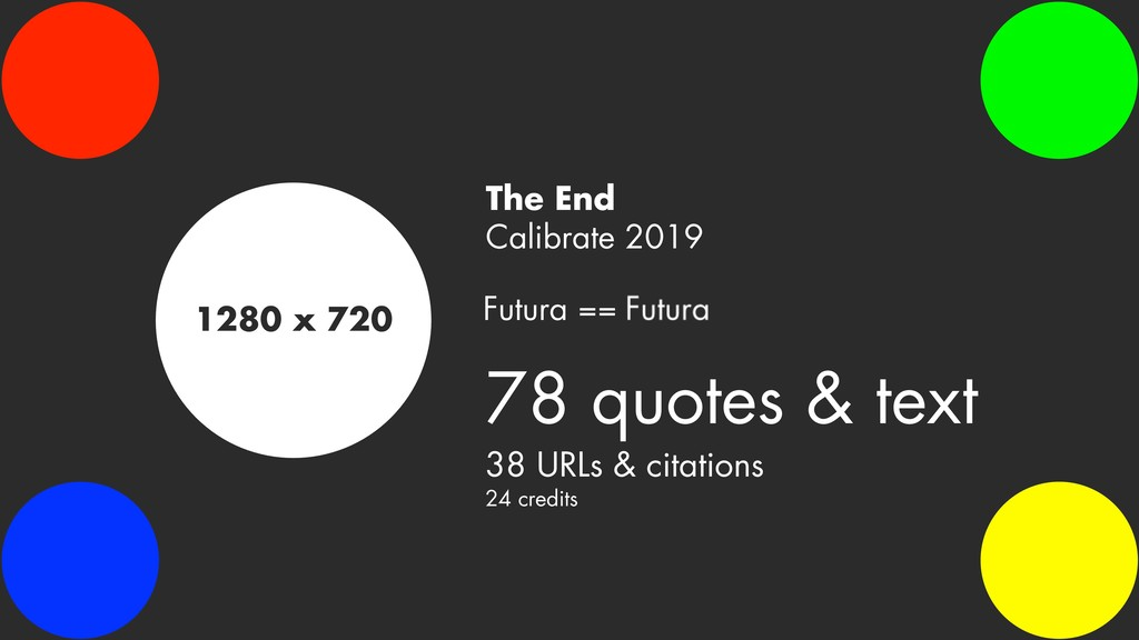 1280 x 720 The End Calibrate 2019 78 quotes & t...