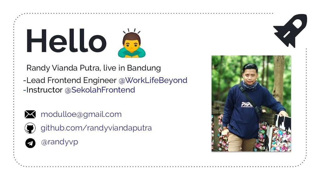 Randy Vianda Putra, live in Bandung -Lead Front...