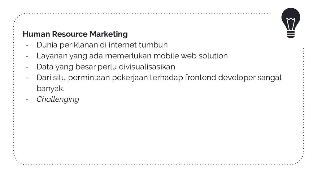 Human Resource Marketing - Dunia periklanan di ...