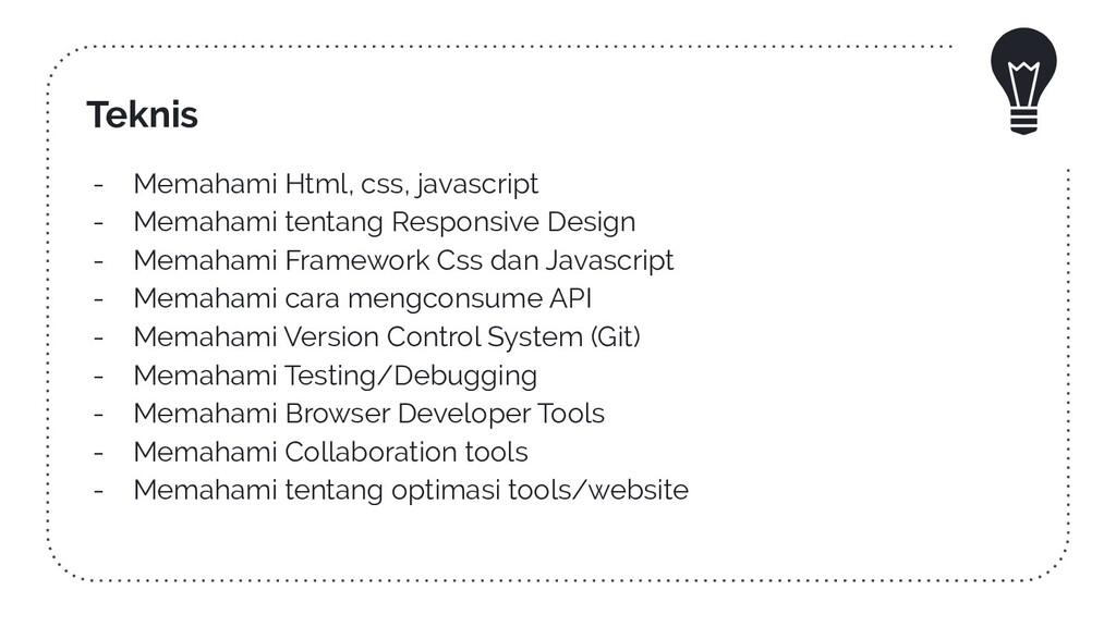 Teknis - Memahami Html, css, javascript - Memah...