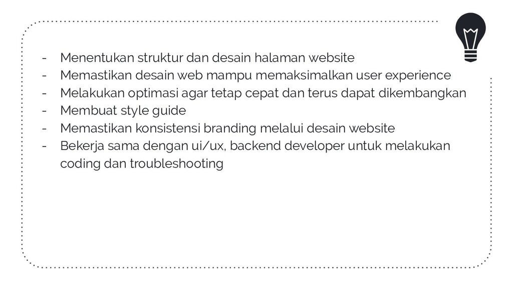 - Menentukan struktur dan desain halaman websit...
