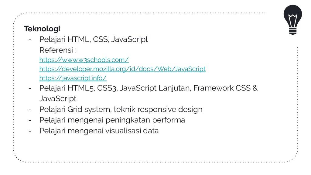 Teknologi - Pelajari HTML, CSS, JavaScript Refe...