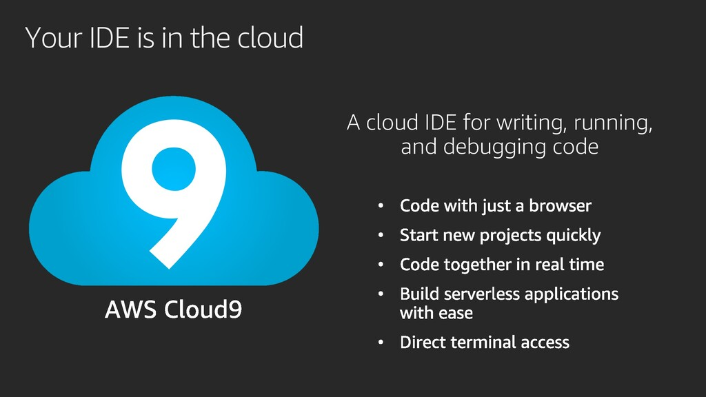 Your IDE is in the cloud A cloud IDE for writin...