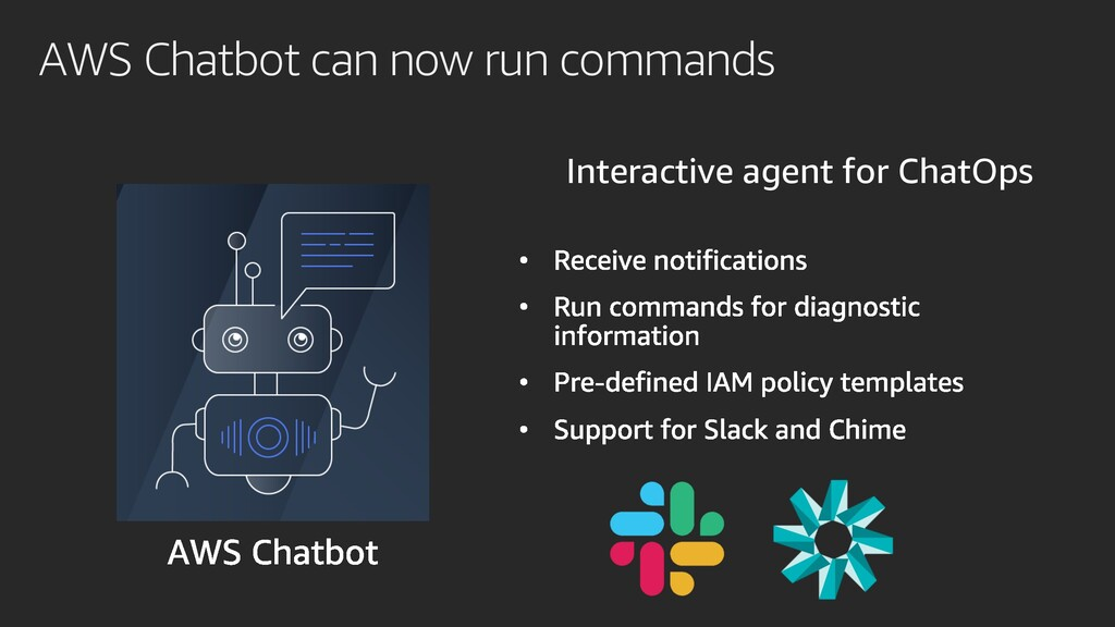 AWS Chatbot can now run commands Interactive ag...