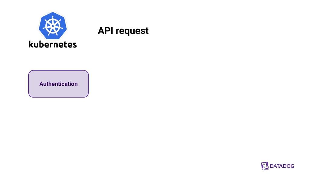 Authentication API request