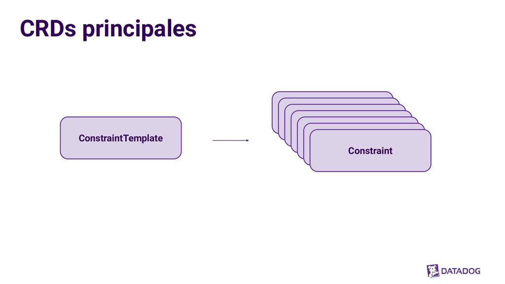 CRDs principales ConstraintTemplate Constraint ...