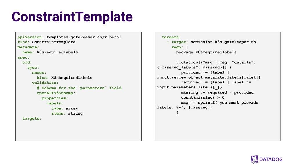 ConstraintTemplate apiVersion: templates.gateke...