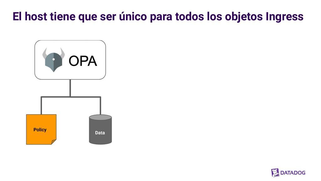 Policy Data El host tiene que ser único para to...