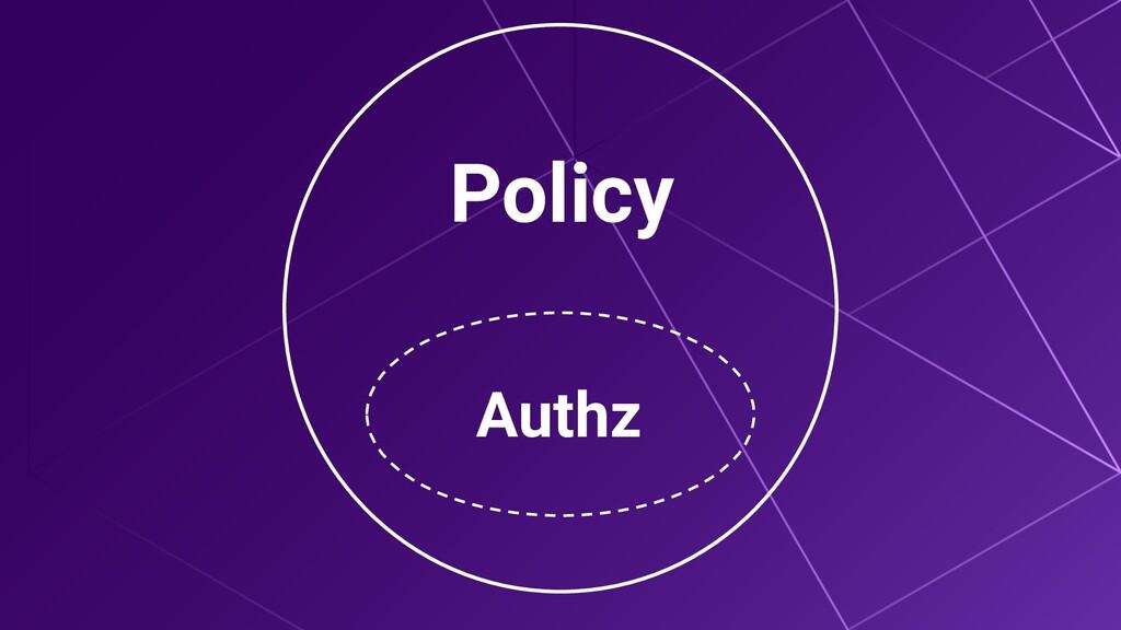 Policy Authz