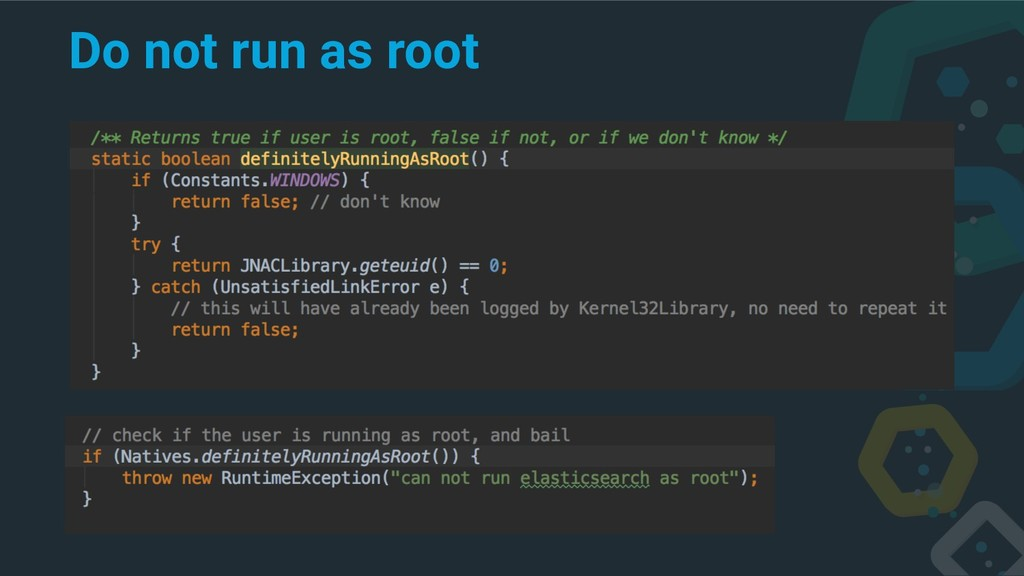 Do not run as root