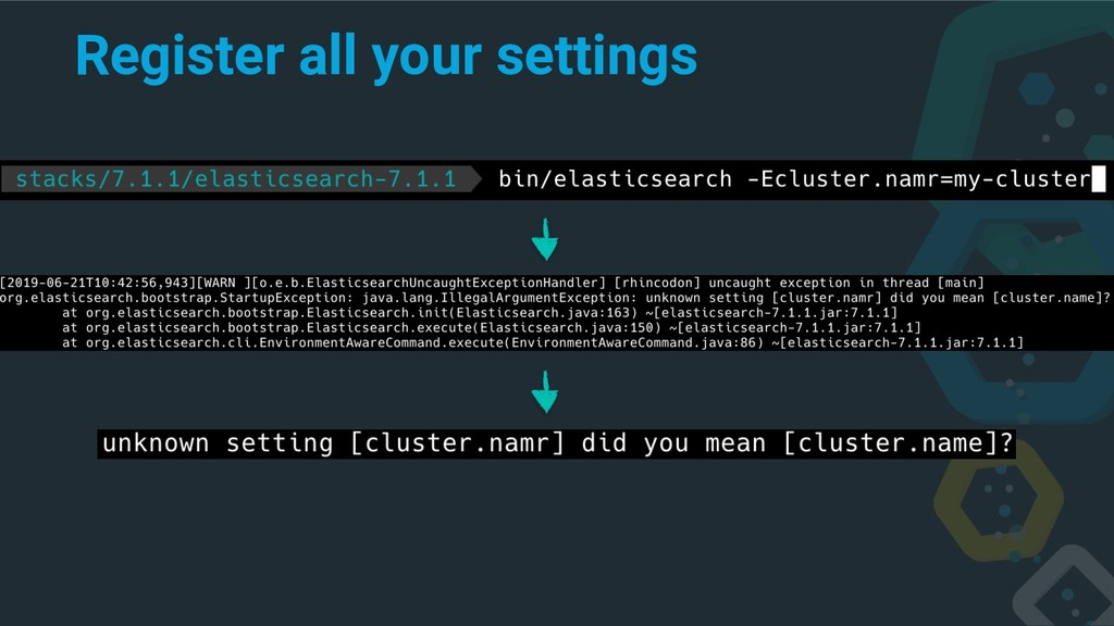Register all your settings