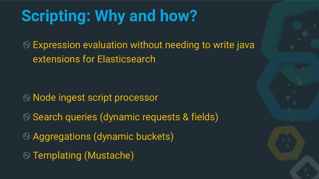 Scripting: Why and how? Expression evaluation w...
