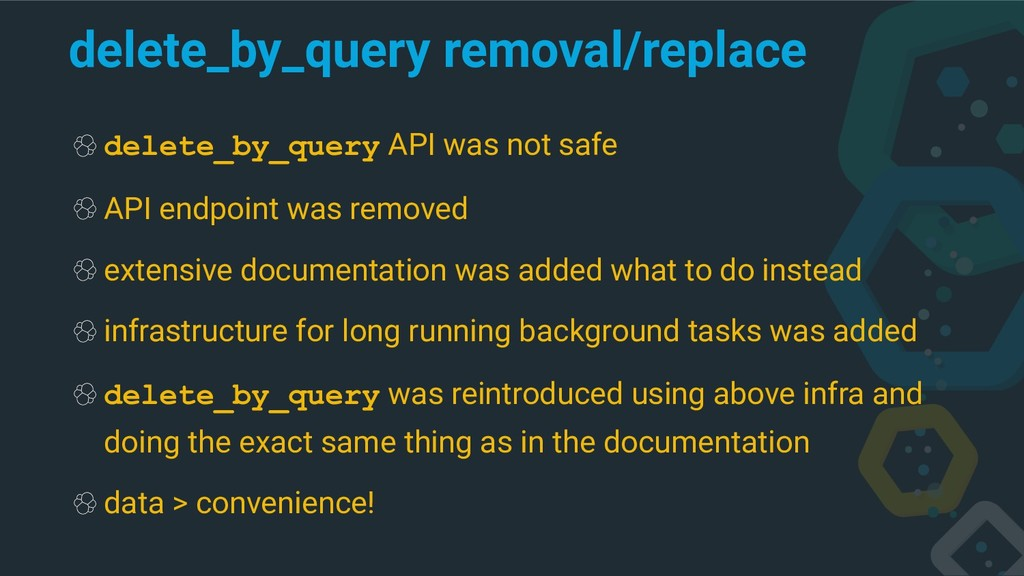 delete_by_query removal/replace delete_by_query...
