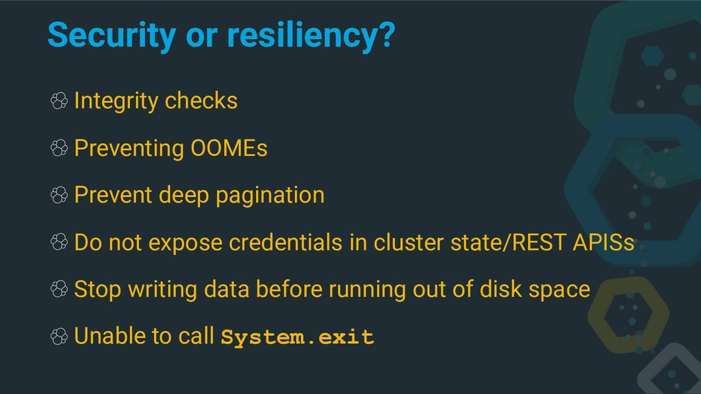 Security or resiliency? Integrity checks Preven...