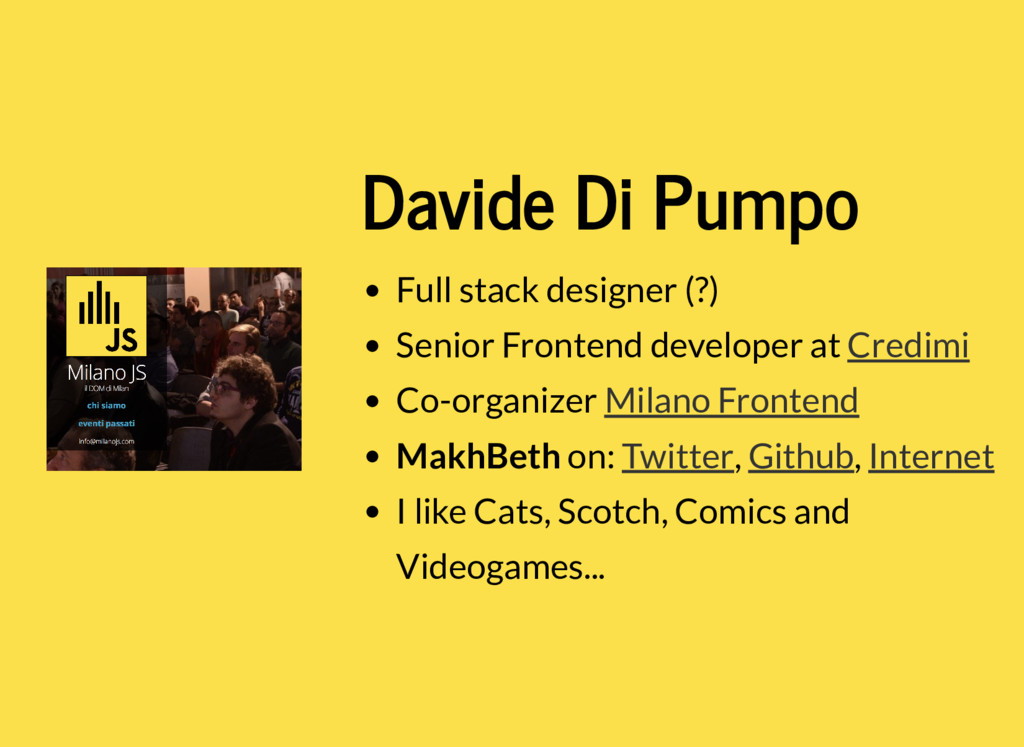 Davide Di Pumpo Full stack designer (?) Senior ...