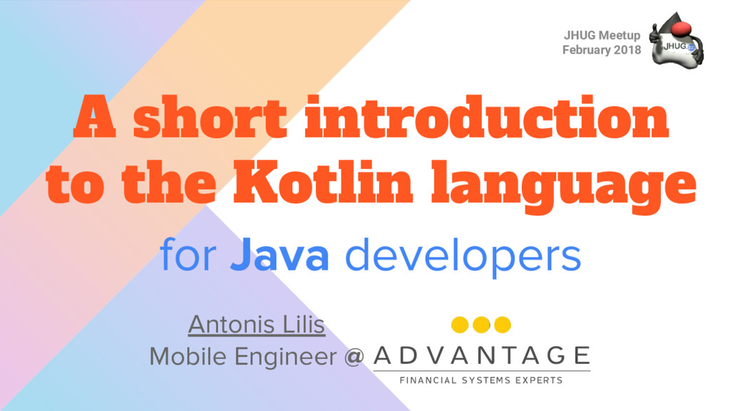 for Java developers A short introduction to the...