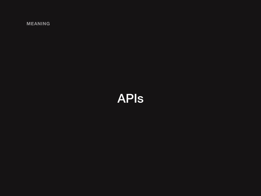 APIs MEANING