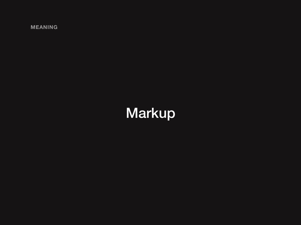 Markup MEANING