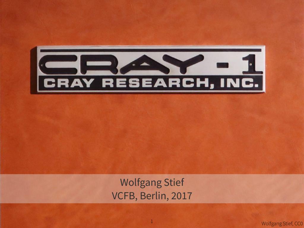 1 Wolfgang Stief VCFB, Berlin, 2017 Wolfgang St...