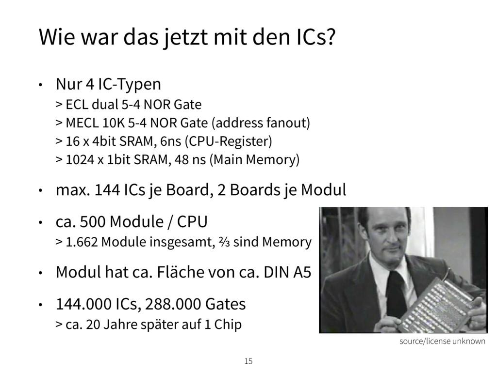 • Nur 4 IC-Typen > ECL dual 5-4 NOR Gate > ME...