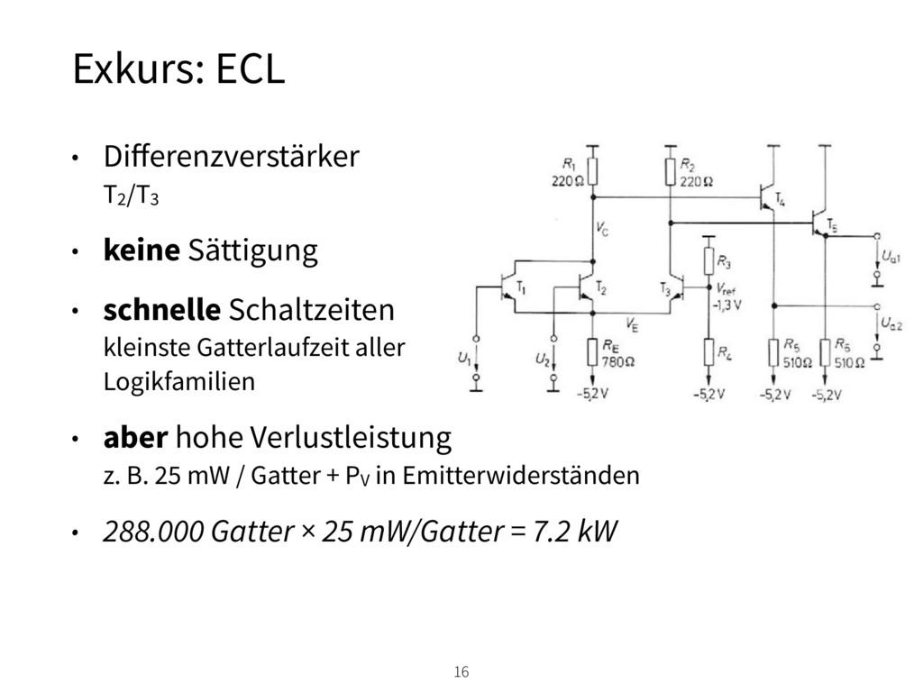 • Differenzverstärker T2/T3 • keine Sättigung •...