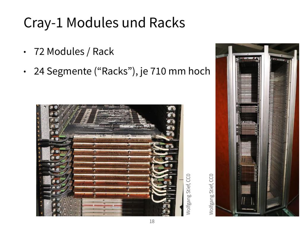 "• 72 Modules / Rack • 24 Segmente (""Racks""), je..."
