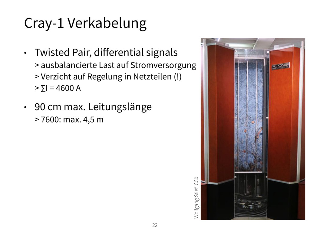 Cray-1 Verkabelung 22 • Twisted Pair, differenti...