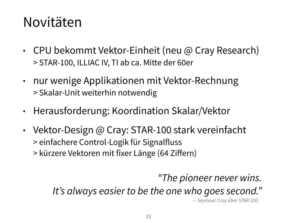 Novitäten 23 • CPU bekommt Vektor-Einheit (neu ...