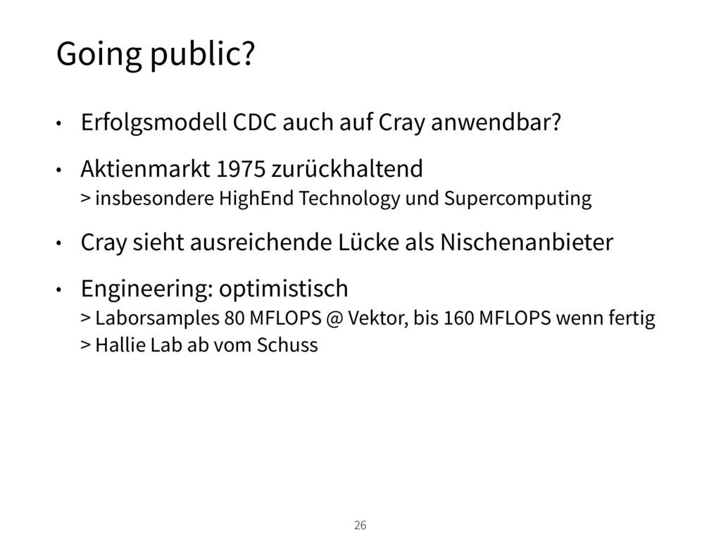 Going public? 26 • Erfolgsmodell CDC auch auf C...