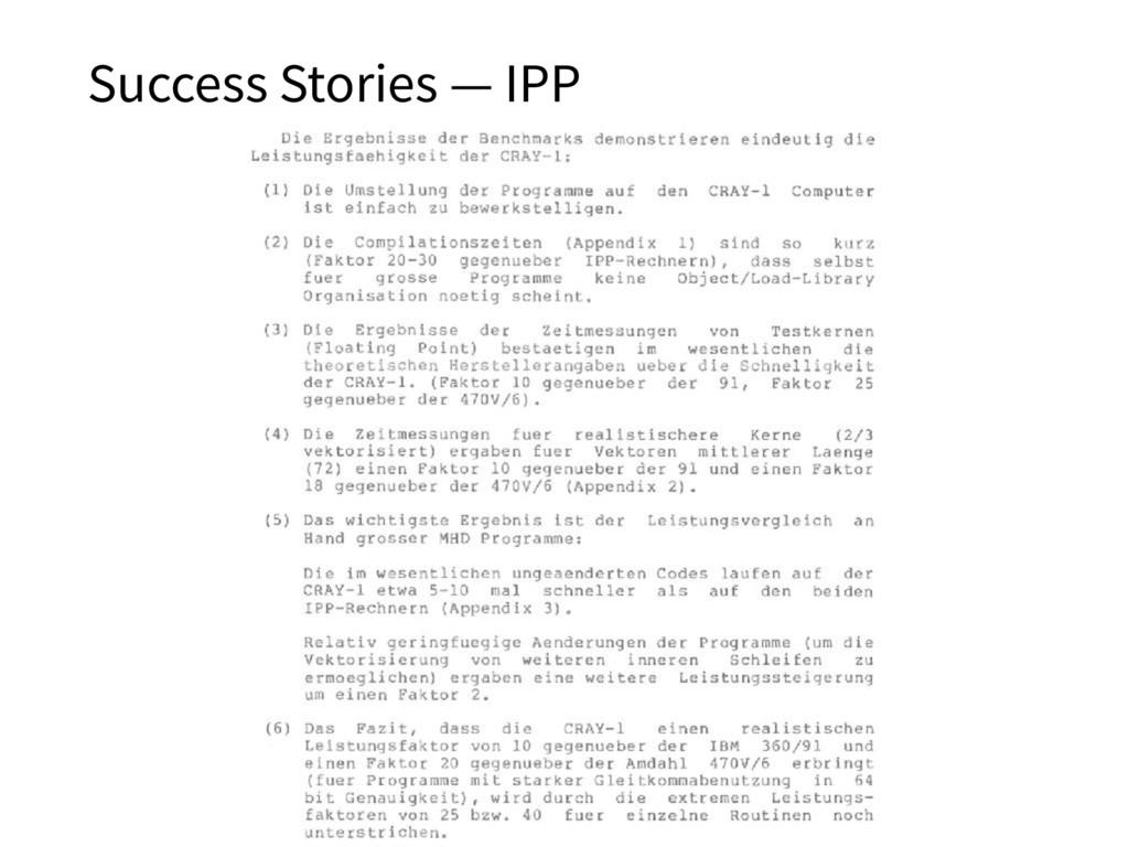 Success Stories — IPP 35