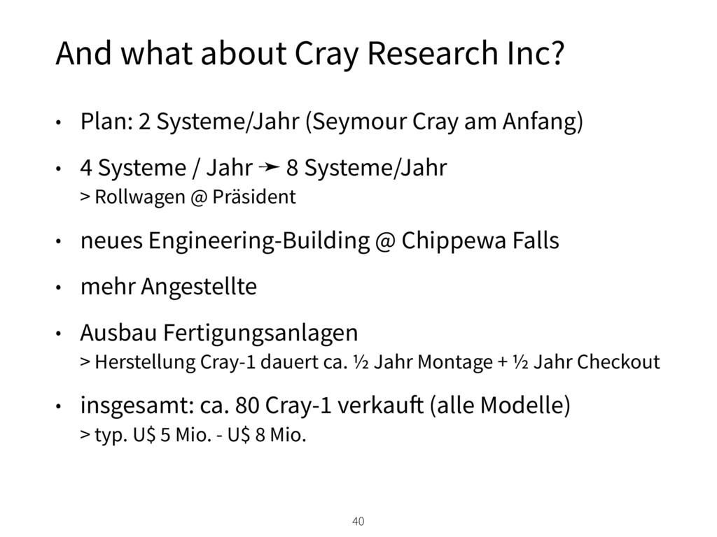 And what about Cray Research Inc? 40 • Plan: 2 ...