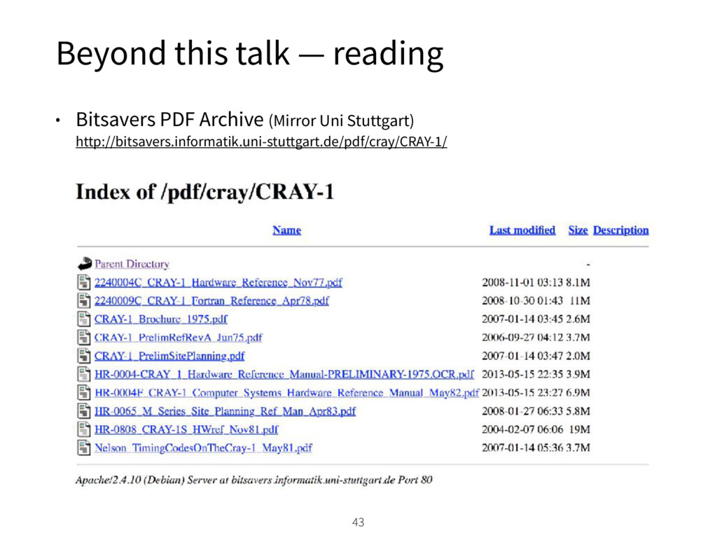 Beyond this talk — reading • Bitsavers PDF Arch...