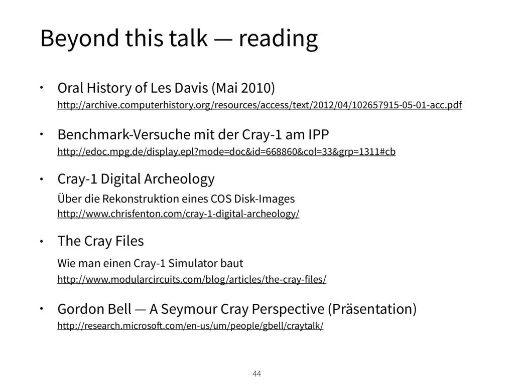 • Oral History of Les Davis (Mai 2010) http://...