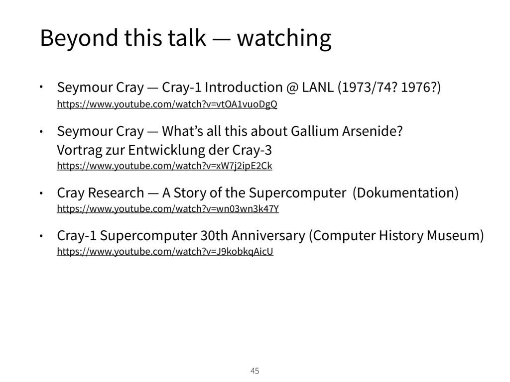 Beyond this talk — watching • Seymour Cray — Cr...