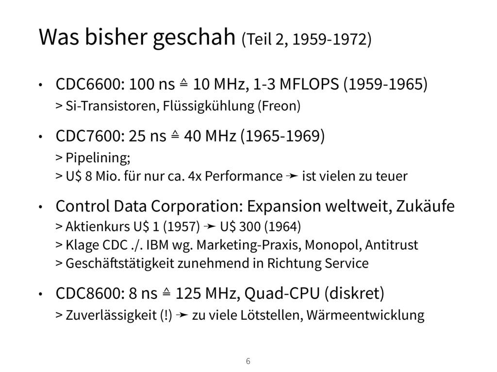 Was bisher geschah (Teil 2, 1959-1972) • CDC660...