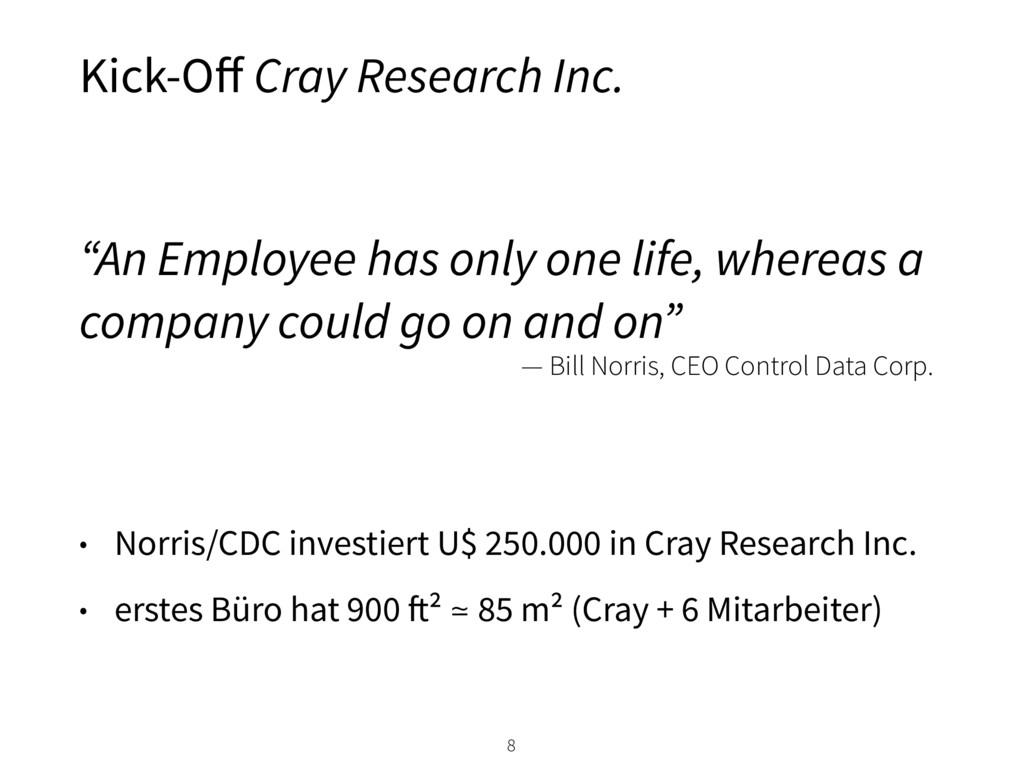 • Norris/CDC investiert U$ 250.000 in Cray Rese...