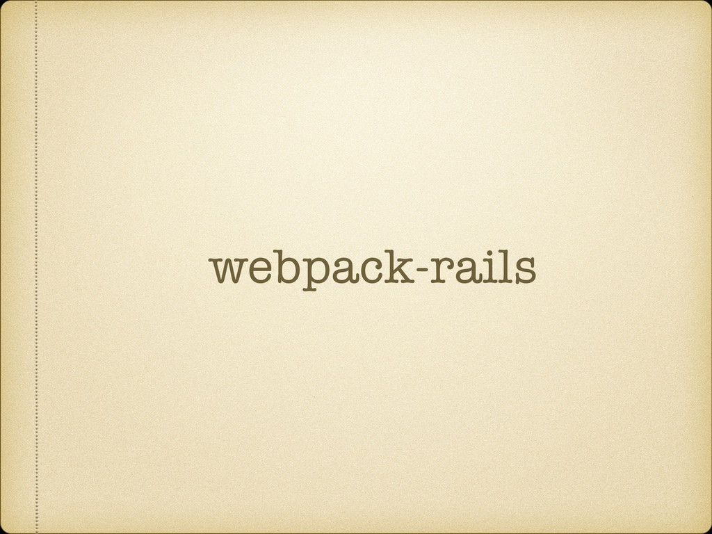 webpack-rails