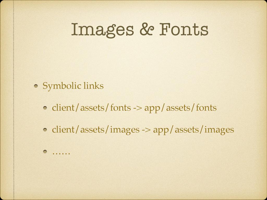 Images & Fonts Symbolic links client/assets/fon...