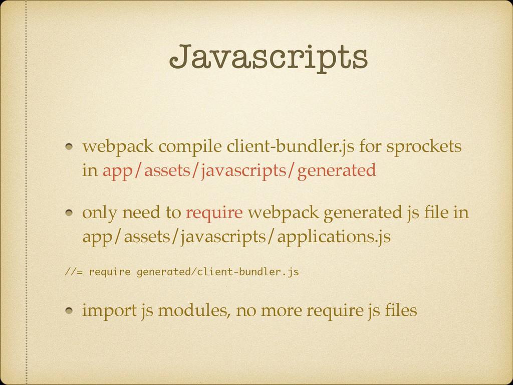 Javascripts webpack compile client-bundler.js f...