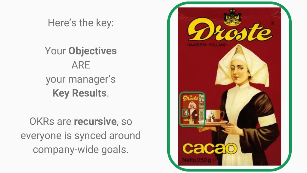 Here's the key: Your Objectives ARE your manage...