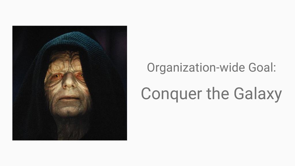 Organization-wide Goal: Conquer the Galaxy