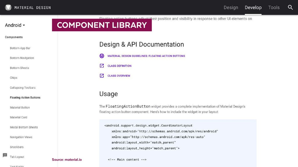 STYLEGUIDE    COMPONENT LIBRARY  Source: mater...