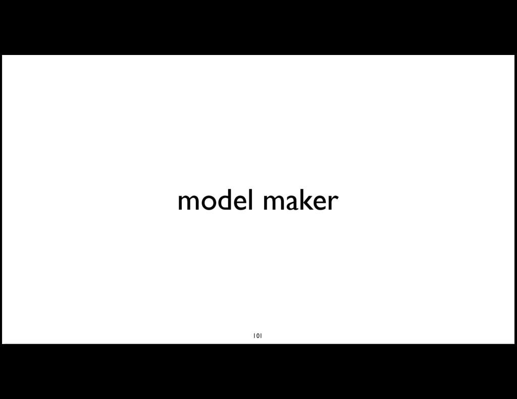 model maker 101