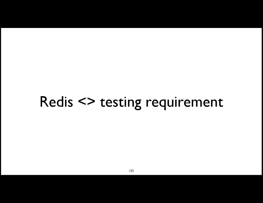 Redis <> testing requirement 153