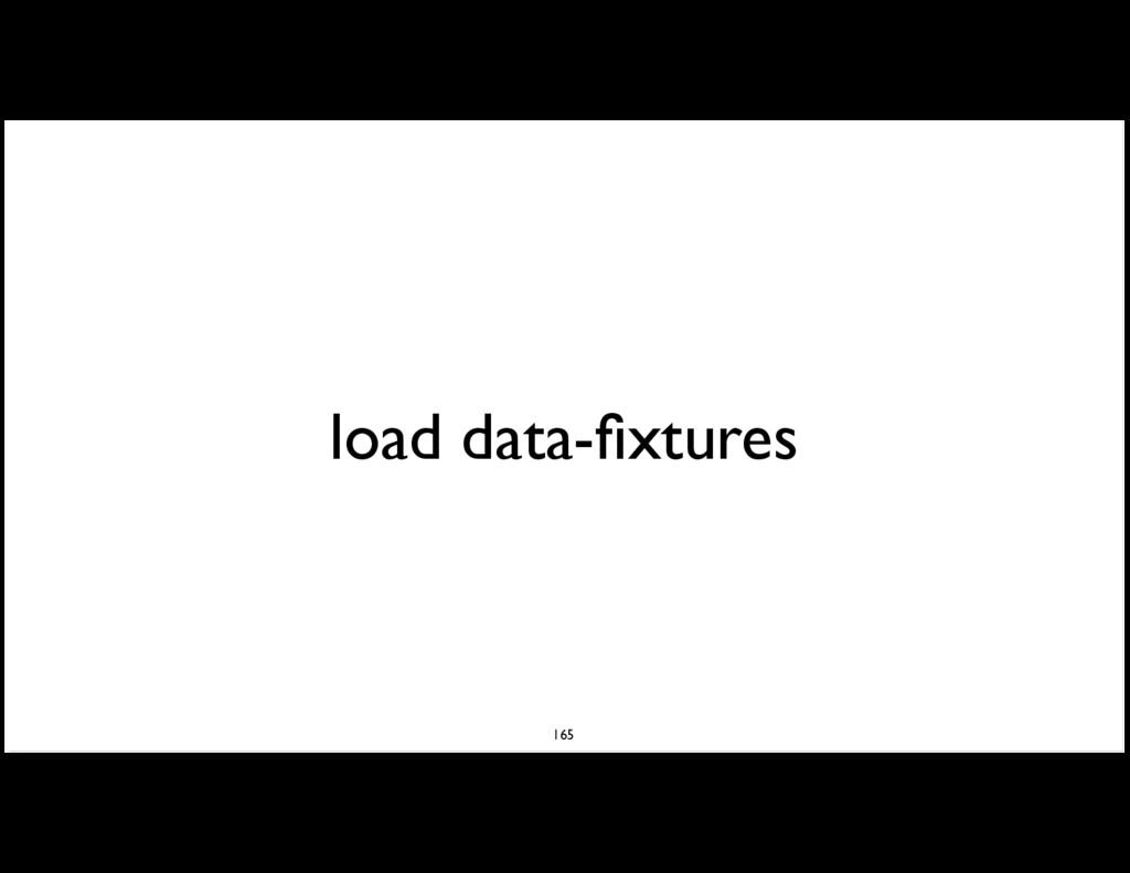 load data-fixtures 165