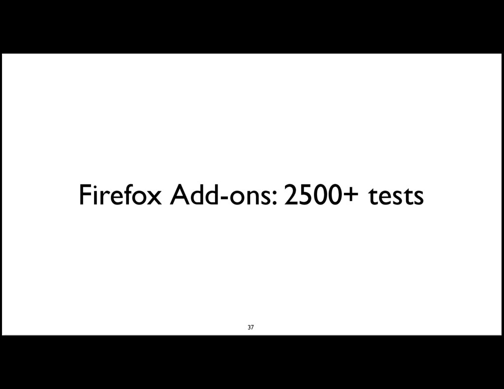 Firefox Add-ons: 2500+ tests 37