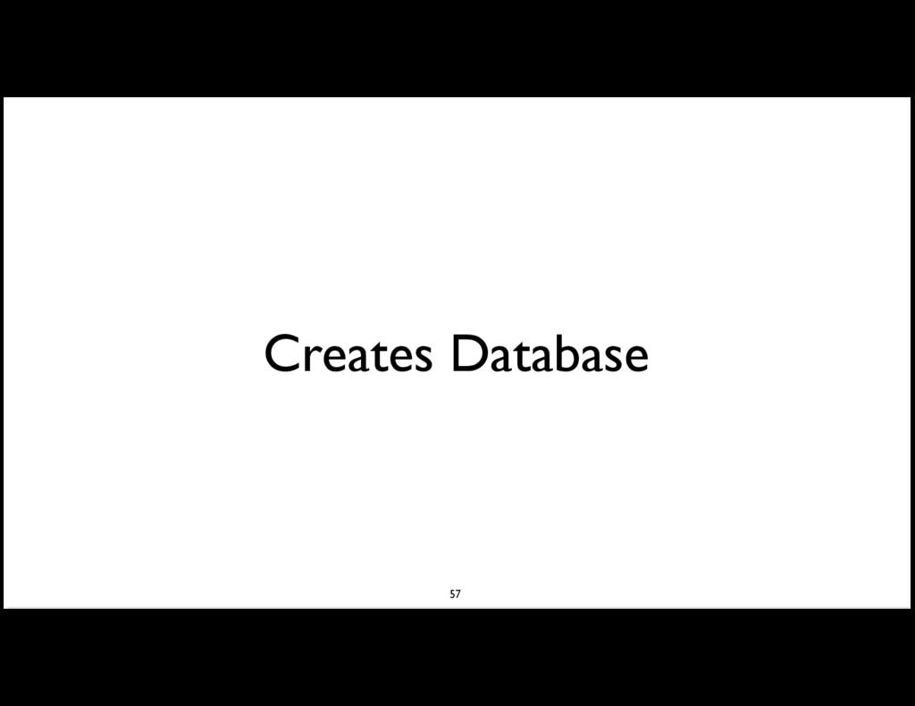Creates Database 57