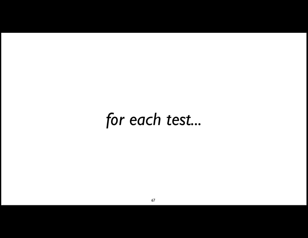 for each test... 67